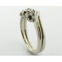 Silvia Rose Wedding Set - White gold & Diamond