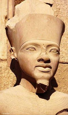 """Tutankhamen statue of him as Amen, the Supreme Being. His name means, """"The Livin… Ancient Egypt For Kids, Ancient Egypt History, Ancient Egyptian Art, Modern Egypt, The Bible Movie, Statue Tattoo, Greek Statues, Stone Statues, Black History Facts"""
