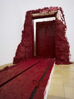 Anish Kapoor - Theres ore than one use for lipstick! #pantone color of the year 2015 | #marsala