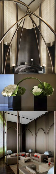 Fabulous detailing to create spaces within a space at the Armani Hotel, Dubai Lobby Interior, Interior Architecture, Interior And Exterior, Dubai Architecture, Dubai Buildings, Famous Buildings, Modern Interior, Space Interiors, Hotel Interiors