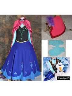 Frozen Vestito Carnevale Anna Donna 6699020