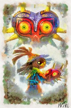 The Legend Of Zelda Majora's Mask - Skull Kid'' by MichelRT.deviantart.com on @DeviantArt