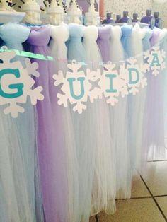 Festa Frozen - Bandeirola Floco de neve Contato: cenarium.arte@hotmail.com