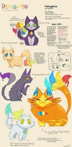 The long awaited four new breeds (and one new crossbreed) of the demon species: Peingatto!! Which breed will you choose?! Note: The following Peingatto shown are used as examples! -The Brilliant St...