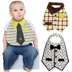 Dude Babies Bib Pattern ($9.48): Dress up your little man in 3 different style bibs: Mr. Businessman, Mr. Cowboy and Mr. Formal. Your baby boy will be the star of the show while keeping himself clean! Fits baby boys size 6-18 months. clotilde.com kimberlyk72