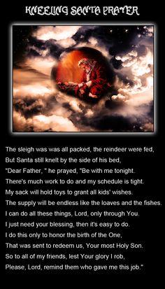 Kneeling santa prayer more holiday christmas time prayer christmas
