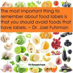 The most important thing to remember about food labels is that you should avoid foods with labels. - Dr. Joel Fuhrman