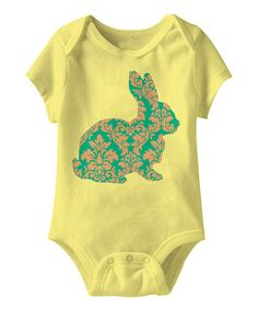 Look what I found on #zulily! Banana Easter Bunny Bodysuit - Infant #zulilyfinds