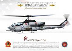 "AH-1W ""Super Cobra"" 440 HMLAT-303 USMC JP-1406"
