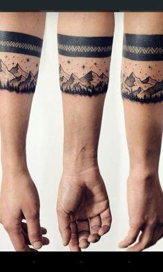 Mountain line tattoo