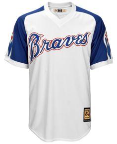 861e9c277 Majestic Men s Atlanta Braves Cooperstown Blank Replica Cb Jersey - White S