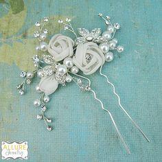 HORQUILLA de boda accesorios cabello novia por AllureWeddingJewelry