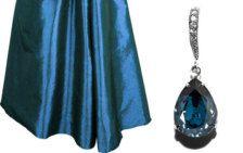 Montana Navy Blue Earrings, Swarovski Montana, Wedding Navy Blue Crystal Earrings, Sterling Silver CZ Montana Blue Bridesmaids Earrings