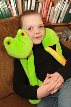 MyNuzzy Franklin Frog is a plush neck pillow for by mynuzzyhouse