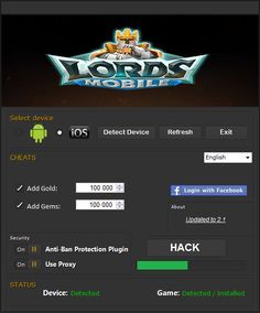 Lords Mobile codigos