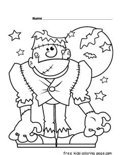 halloween monster coloring pages printable and coloring book to print for free find more coloring pages online for kids and adults of halloween monster - Halloween Coloring Pages For Kids