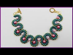 DIY | Wellenarmband aus Perlen | Schmuck basteln | Wavy bracelet with twin beads | jewellery - YouTube