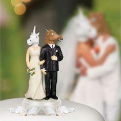 Tortenfigur Einhorn und Pferd | www.radbag.de #hochzeit #caketopper #wedding
