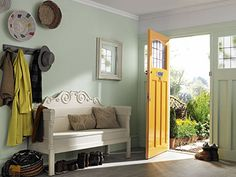 Green hallway, Crown paints - hallway colours - allway decor ideas - homes - allaboutyou.com