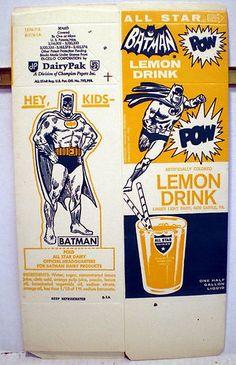 All Star Lemon Drink Un Used 1 2 Gallon Carton Batman Riddler 1278 7 2 B 7 B 1A | eBay
