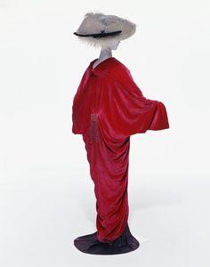 A draped velvet coat by Paul Poiret