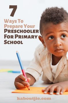 7 Ways To Prepare Your Preschooler For Primary School   Starting primary school is a huge milestone for parents and their children alike. It is essential to prepare your preschooler for primary school so that he adapts easily.   #Parenting #School Primary School, Pre School, Preschool Kids Games, Preschool Classroom, Kindergarten, Activities For 6 Year Olds, Practical Parenting, Parenting Tips, School Routines
