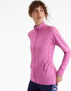 a40bc7bf12 Joules US VIVA Womens Active Zip Up Sweatshirt Pink Marl Joules Uk, Active  Wear For