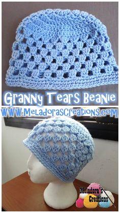 Meladora's Creations - Granny Tears Beanie - free crochet pattern plus Left…