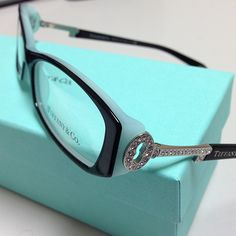 New for 2013 - Tiffany & Co. Eyeglasses and Sunglasses. This is TF 2047b color 8055-top black blue
