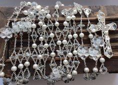 Wedding lasso silver,  wedding crystal lasso, lazo de boda