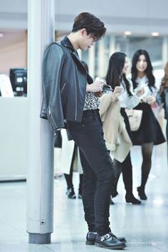 you see him waiting for you in the airport. watching from afar, you see him smile as he reads your sweet text messages for him.