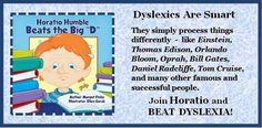 """If you are a DYSLEXIC TEEN or a PARENT, listen to this success story. Shared from Flemming Ast, a great fan of my """"Horatio Humble"""" PB for DYSLEXIA. He is a man who has worked to overcome it brilliantly -- CLICK LOGO to hear video."""