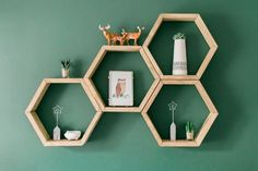 This sweet honeycomb wall in this cute nursery is just perfect. We would love to handcraft a honeycomb wall for you. We handcraft to order and we can customize to fit your needs.