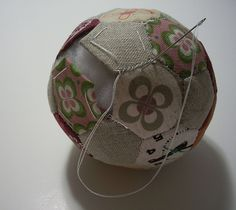 Hexagon ball tutorial. I've pinned one of these before, but this one is so pretty I have to pin it again!