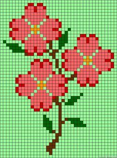 rosas en punto de cruz para