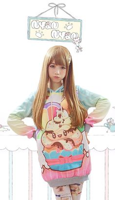 Giant kawaii rainbow cupcake Harajuku hoodie - Is it sad that I am completely straight, but would wear the hell out of this?
