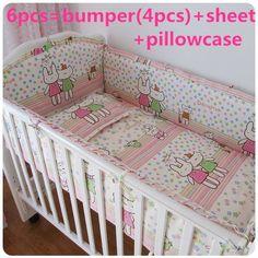 Promotion! 6/7PCS Baby Bedding Set