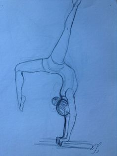 Gymnastics girl sketch. By Yenthe Joline.