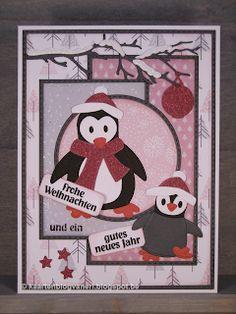 Marianne Design, Card Ideas, December, Winter, Cards, Penguins, Wine, Winter Time, Maps