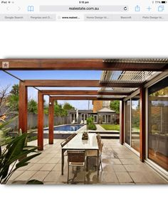 Outdoor living design with pergola from a real Australian home - Outdoor Living . Outdoor living design with pergola from a real Australian home - Outdoor Living photo 308955 modern design Timber Pergola, Vinyl Pergola, Pergola Canopy, Pergola With Roof, Wooden Pergola, Outdoor Pergola, Backyard Pergola, Pergola Shade, Pergola Kits
