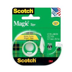 3M Scotch Magic Transparent Tape, 1/2 x 800 Inches - 1 ea | Ideal for permanent paper mending and splicing. myotcstore.com - Ezy Shopping, Low Prices & Fast Shipping.