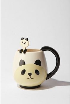 urbanoutfitters.com Panda Friends Mug & Spoon Set $24.00