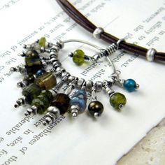 leather cord and cluster jewelry - Szukaj w Google
