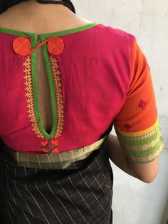 (in 6 sizes and free size) Simple Blouse Designs, Silk Saree Blouse Designs, Stylish Blouse Design, Bridal Blouse Designs, Blouse Neck Designs, Blouse Simple, Work Blouse, Blouse Styles, Lehenga
