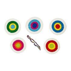 KÄRRNÄVA Textile decorative patches - IKEA... for the hair :)