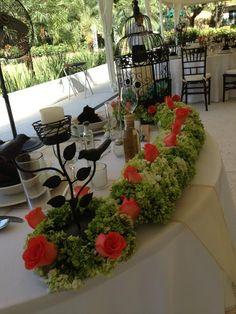 Mi mesa de novios... Wow!!!