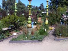Leslie Codina Ceramic Totem  Living Green at The LA Garden Show