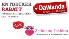 SEI SCHNELL – VORLETZTER TAG MIT 15% RABATT! http://de.dawanda.com/shop/zellmann24