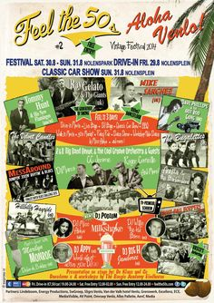 FESTIVAL FLYER 2014 Weekend festival: Feel the 50s August 30th and 31st 2014 Nolenspark Venlo (NL) Entry free!