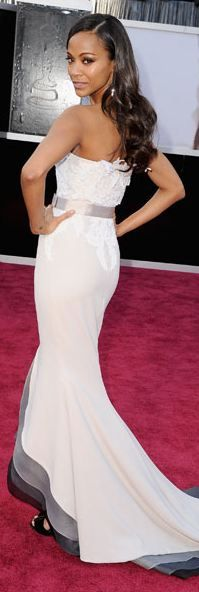 Zoe Saldana at the 2013 Academy Awards - Alexis Mabille Couture